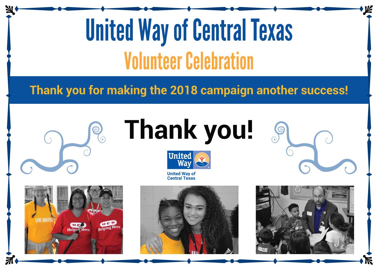 Volunteer Celebration - United Way of Central Texas